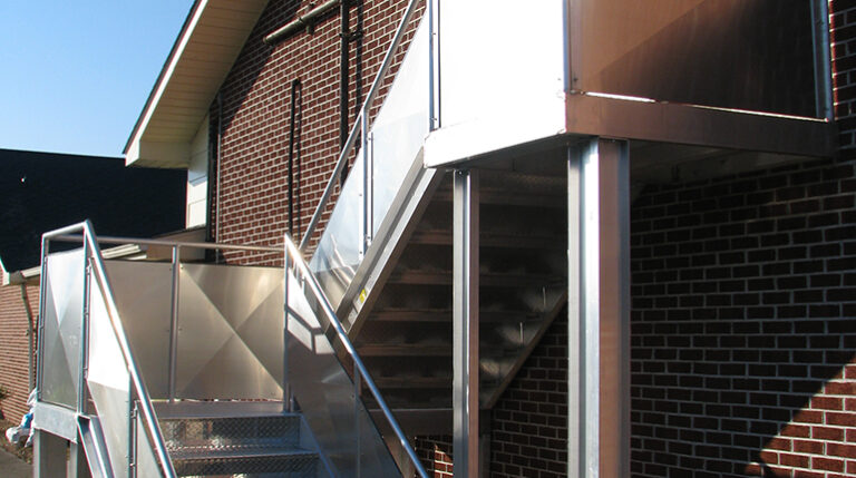 Fixed Aluminum Industrial Stairways